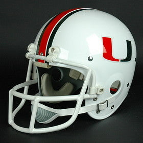 Miami Hurricanes 1984-Current '1987, 1989, 1991 & 2001 National Champs' Authentic Vintage Full Size Helmet