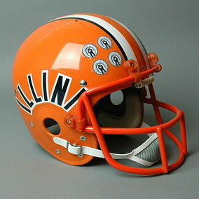 Illinois Fighting Illini 1983-87 'Jack Trudeau' Vintage Full Size Helmet