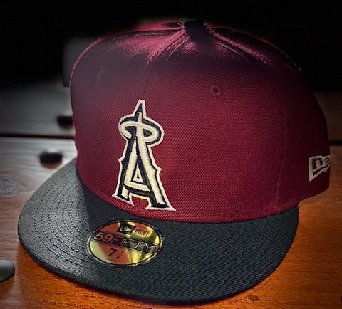 Los Angeles Angels 1993-96 Burgundy/Black Cooperstown 59FIFTY Cap