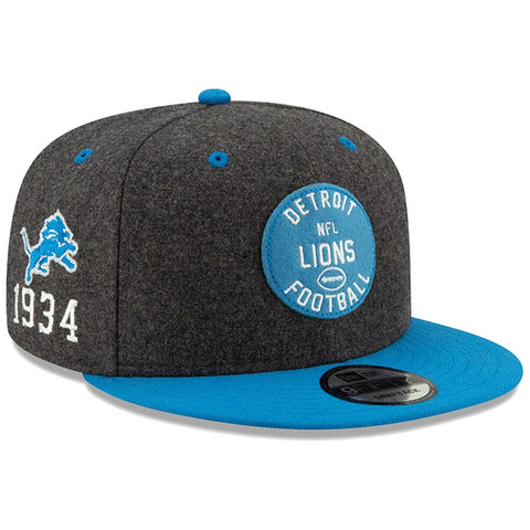 Detroit Lions New Era 2019 Sideline Official Home 9FIFTY Snapback Cap