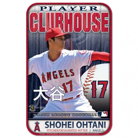 Los Angeles Angels Shohei Ohtani Clubhouse Sign 11x17""