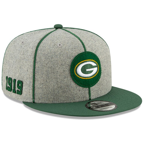 Green Bay Packers New Era 2019 Sideline Official Home 9FIFTY Snapback Cap