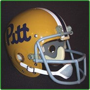 Pittsburgh Panthers 1975-76 Authentic Vintage Full Size Helmet