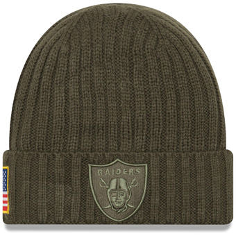 Oakland Raiders 2017 Salute to Service On-Field Beanie