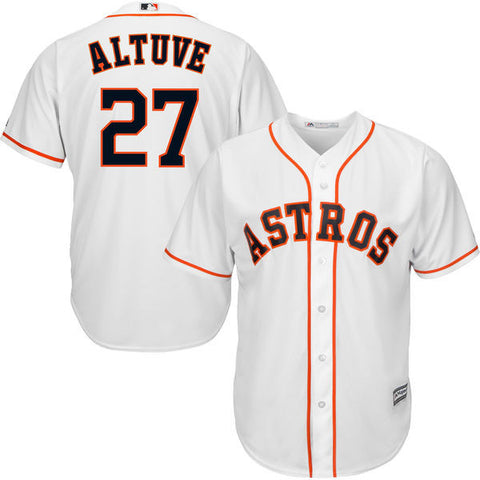 Houston Astros Jose Altuve #27 Majestic Athletic Cool Base Home Jersey