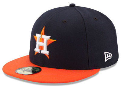 Houston Astros Authentic 59Fifty Alternate Navy/Orange Game Cap