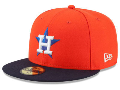 Houston Astros Authentic 59Fifty Alternate Orange/Navy Game Cap