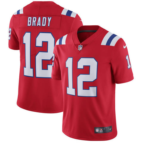 New England Patriots Tom Brady Nike Red Limited Jersey
