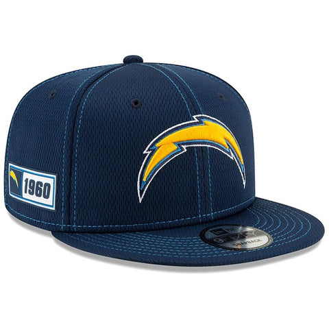 Los Angeles Chargers New Era 2019 Sideline Official Road 9FIFTY Snapback Cap