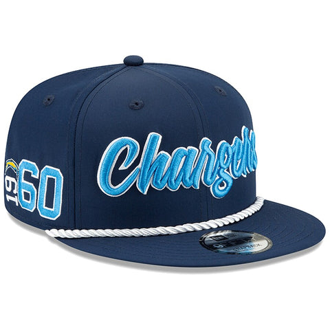 Los Angeles Chargers New Era 2019 Sideline Official Home 9FIFTY Snapback Cap