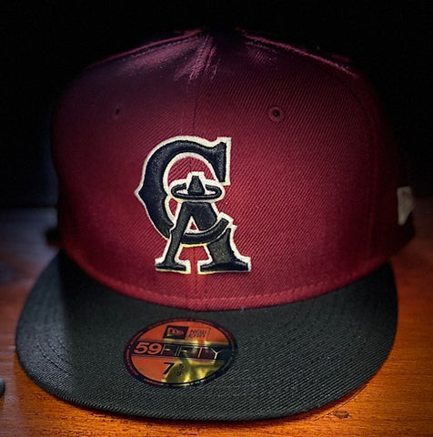 California Angels 1993-96 Burgundy/Black Cooperstown 59FIFTY Cap