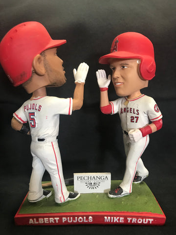 Los Angeles Angels Mike Trout & Albert Pujols Double Bobblehead