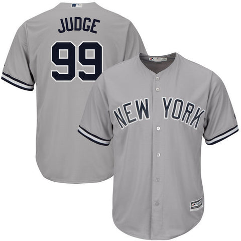 New York Yankees Aaron Judge #99 Majestic Athletic Cool Base Road Jersey