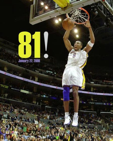 Los Angeles Lakers Kobe Bryant 81 Point Game Licensed 8x10 Photo