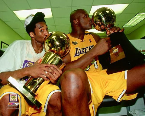 Los Angeles Lakers Kobe Bryant and Shaq Licensed 8x10 Photo