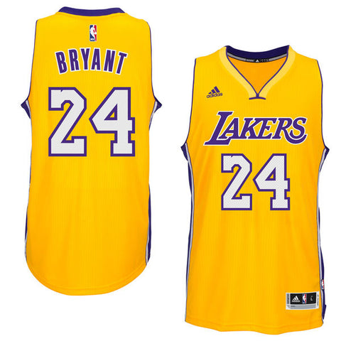 Los Angeles Lakers Kobe Bryant #24 Yellow Adidas Jersey