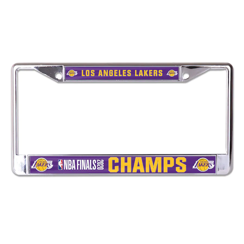 Los Angeles Lakers 2020 NBA Champions Laser Chrome License Plate Frame