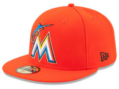 Miami Marlins Authentic 59Fifty Orange Game Cap