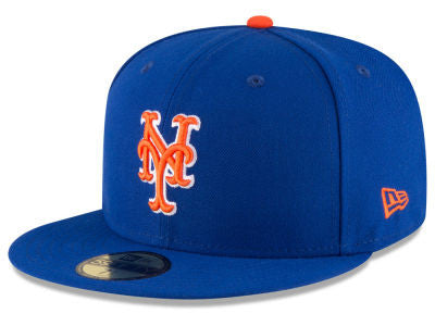 New York Mets Authentic 59Fifity Royal/Orange Game Cap