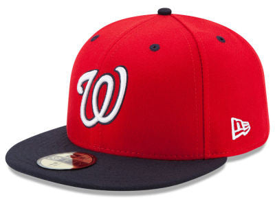 Washington Nationals Authentic 59Fifty Red/Navy Game Cap