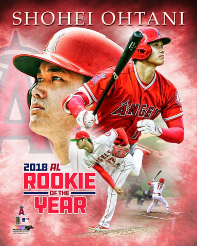 Los Angeles Angels Shohei Ohtani Rookie of the Year Licensed 8x10 Photo