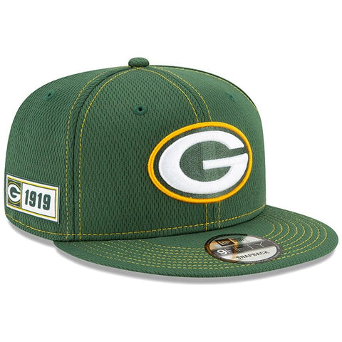 Green Bay Packers New Era 2019 Sideline Official Road 9FIFTY Snapback Cap