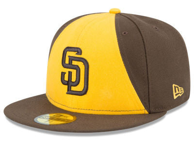 San Diego Padres New Era Authentic 59Fifty Brown Game Cap