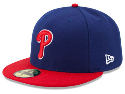 Philadelphia Phillies Authentic 59Fifty Royal/Red Game Cap