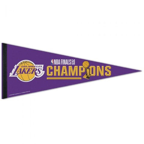 Los Angeles Lakers 2020 NBA Champions Premium Pennant