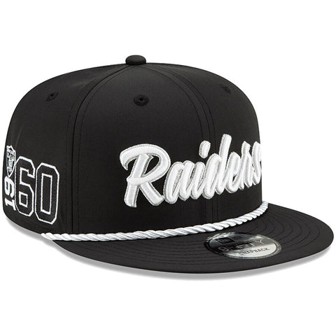 Oakland Raiders New Era 2019 Sideline Official Home 9FIFTY Snapback Cap
