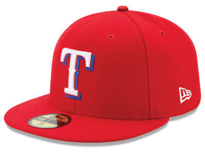 Texas Rangers Authentic 59Fifty Red Alternate Game Cap
