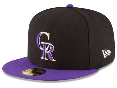Colorado Rockies Authentic 59Fifty Alternate Black/Purple Game Cap