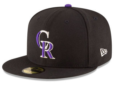 Colorado Rockies Authentic 59Fifty Black Game Cap