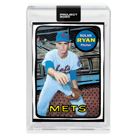 New York Mets 1969 Nolan Ryan Topps PROJECT 2020 Card 87 by Joshua Vides
