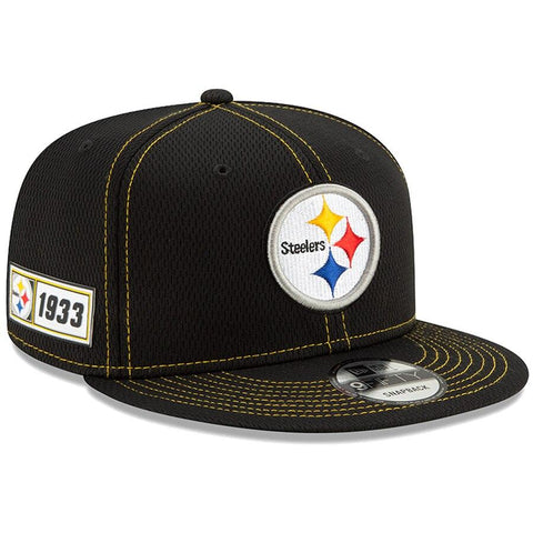 Pittsburgh Steelers New Era 2019 Sideline Official Road 9FIFTY Snapback Cap