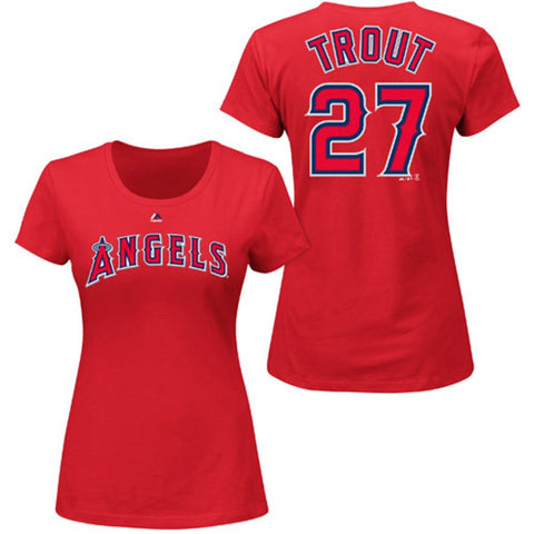 Los Angeles Angels Mike Trout #27 Ladies Player Shirt
