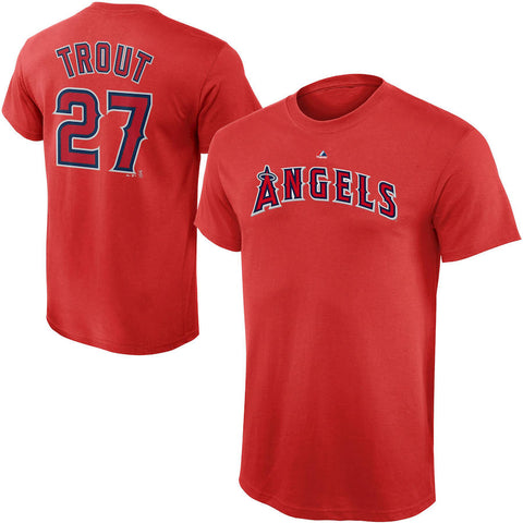 Los Angeles Angels Mike Trout #27 Red Player Shirt