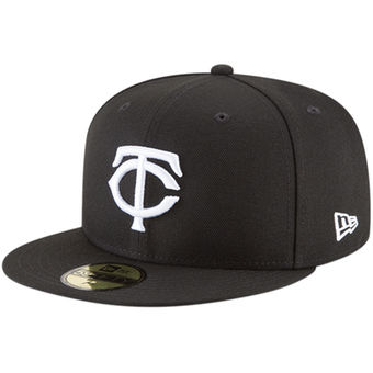 new styles c18ba 48619 Minnesota Twins New Era 59Fifty Alternate Black and White Cap