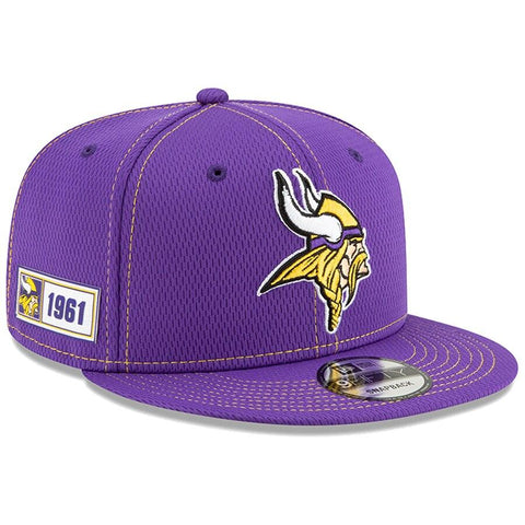 Minnesota Vikings New Era 2019 Sideline Official Road 9FIFTY Snapback Cap