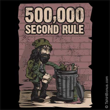 500,000 Second Rule T-Shirt