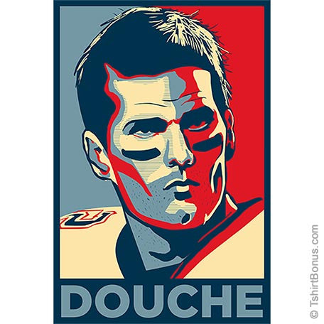 Douche: Tom Brady Patriots Parody T-Shirt