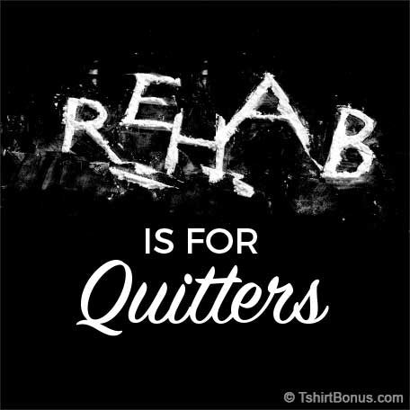 Rehab Is For Quitters — Cocaine T-Shirt