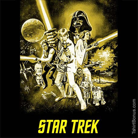 Star Wars / Star Trek Parody T-Shirt