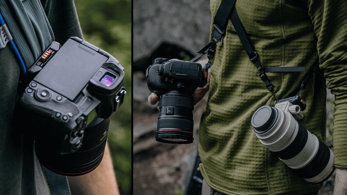 Carry professional camera bodies and long lens setups with confidence