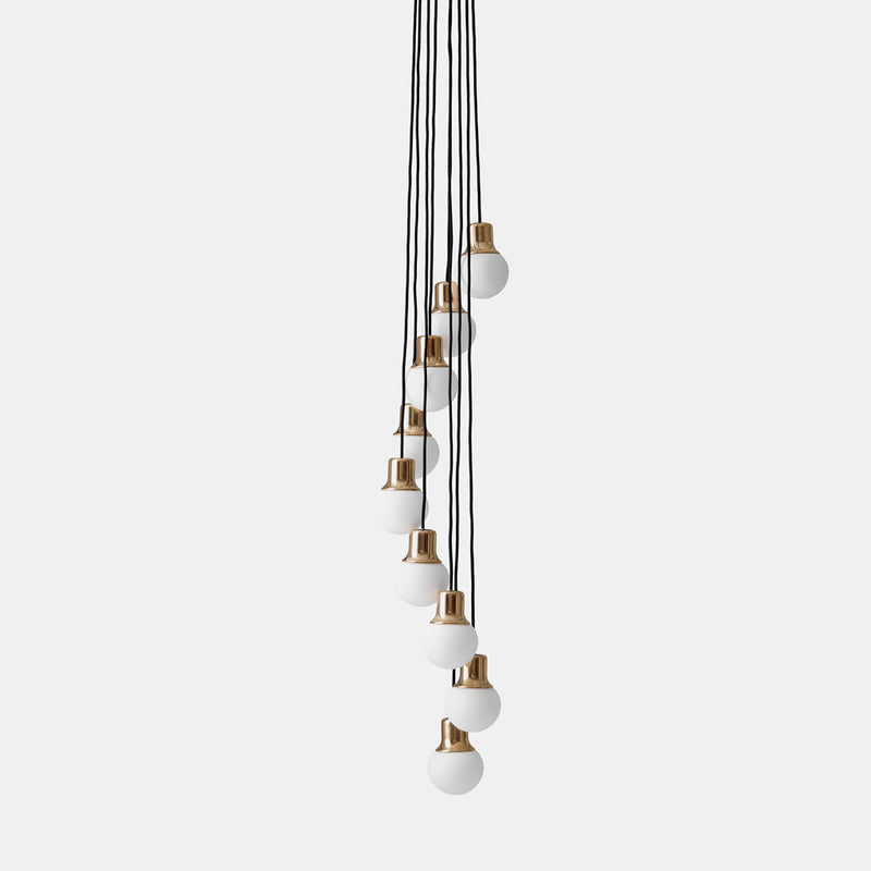 Mass Light Chandelier NA6 - 9 pendants - Brass - Monologue London