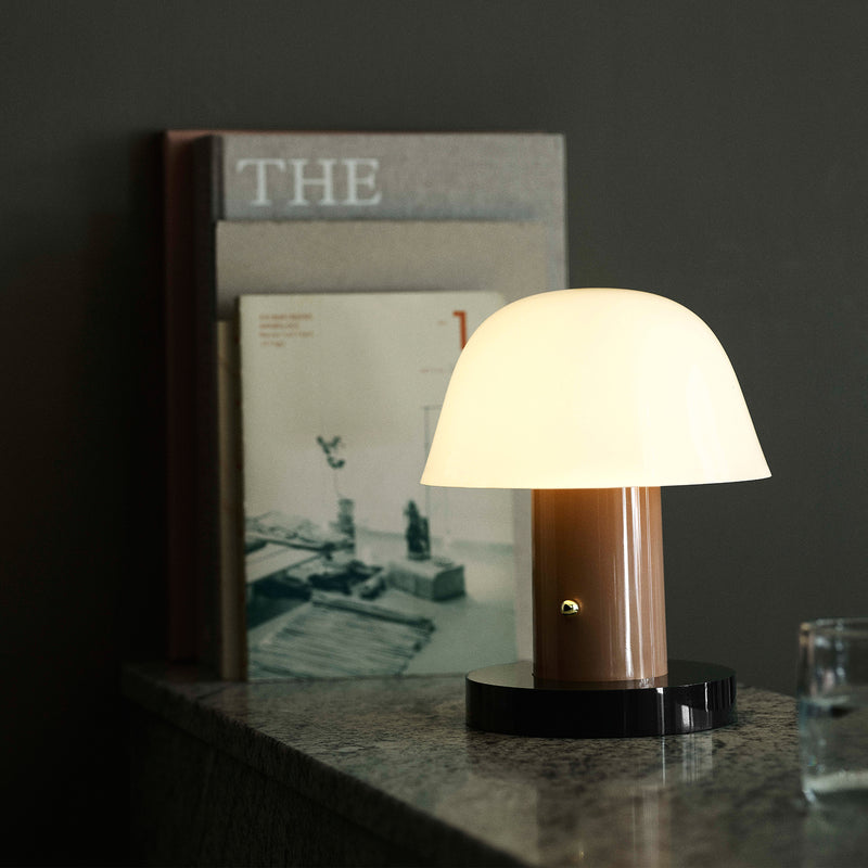Setago JH27 Portable Table Lamp - Nude & Forest - Monologue London