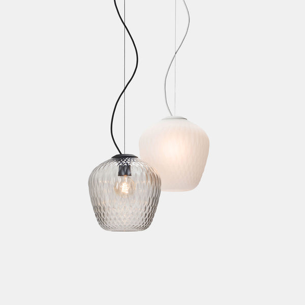Blown Pendant - SW3 - Blasted White - Monologue London