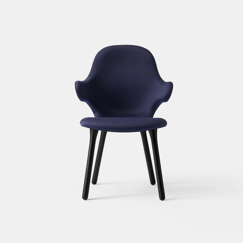 Catch Chair - JH1 - Black lacquered Oak / Dark Blue - Monologue London