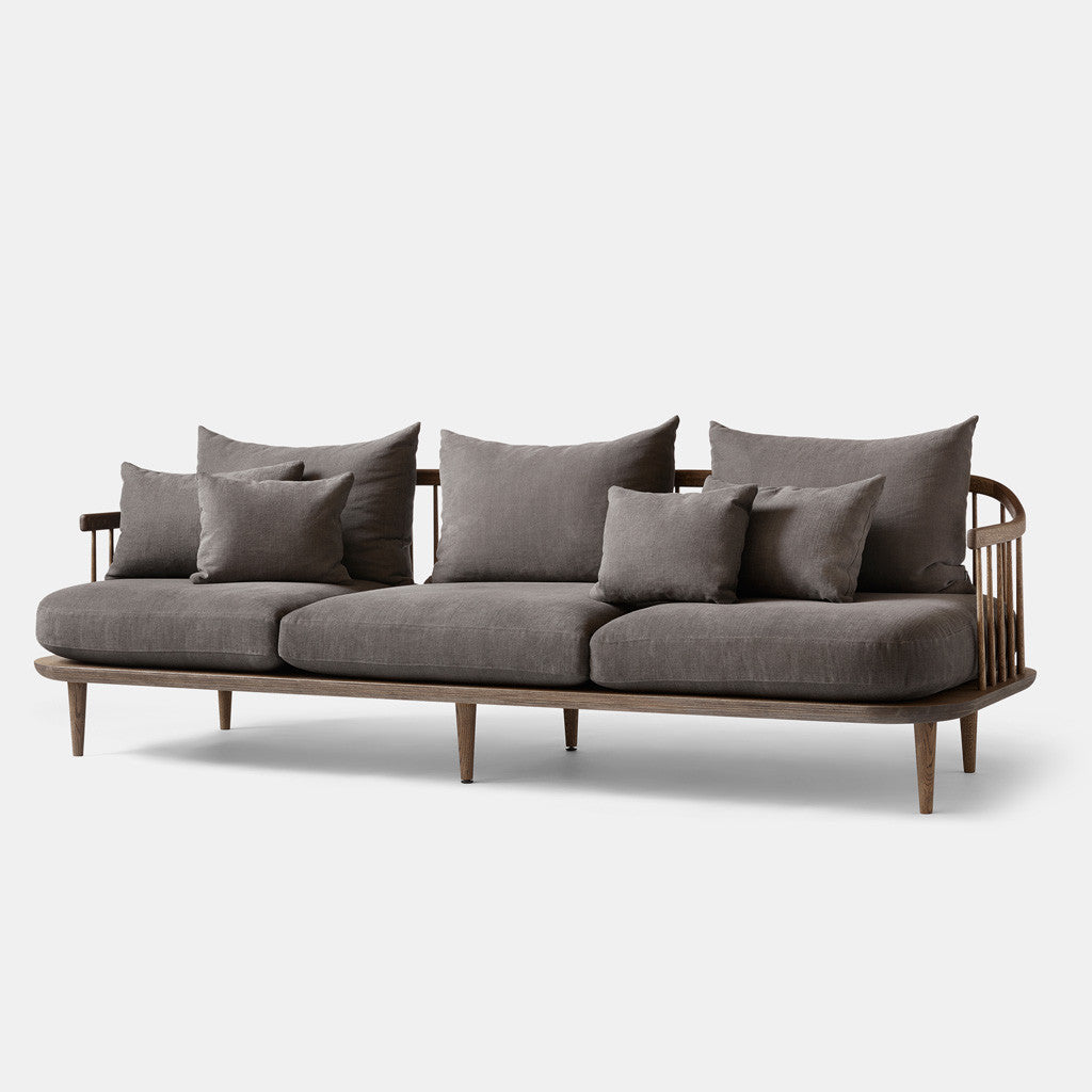 Fly Sofa - SC12  - 3 Seater - Brown - Monologue London