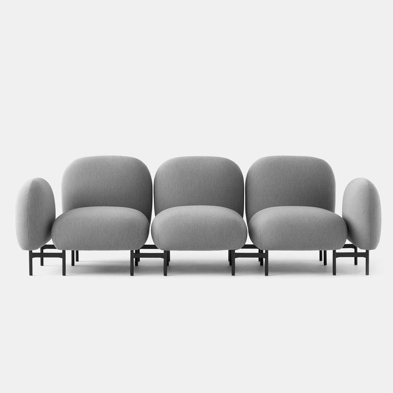 Isole 3 Seater Sofa With Arms - Ash Grey - Monologue London